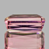 10x6 mm {2.77 cts} Rectangle Best AAA Luster AAA Peach Pink Tourmaline Natural (Flawless-VVS)--AAA Grade
