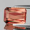 9x7 mm {3.28 cts} Rectangle Best AAA Luster AAA Peach Pink Tourmaline Natural (Flawless-VVS)--AAA Grade