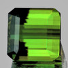 9.5x9.5 mm {6.12 cts} Octagon AAA Neon Green Tourmaline Natural {Flawless-VVS1}--FREE CERTIFICATE