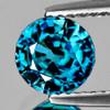 6.50 mm {1.41 cts} Round Best AAA Fire Intense AAA Blue Zircon Natural {Flawless-VVS1}--AAA Grade