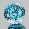 8.00 mm {3.86 cts} Round Best AAA Fire Natural Blue Zircon {Flawless-VVS1}