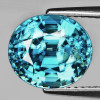 9.5x8.5 mm {5.00 cts} Oval Best AAA Fire Top Electric Blue Zircon Natural {Flawless-VVS1}