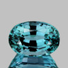 11.5x8 mm {6.01 cts} Oval Best AAA Fire Top Electric Blue Zircon Natural {Flawless-VVS1}