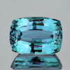 12x9 mm {7.75 cts} Cushion Best AAA Fire Electric Blue Zircon Natural {Flawless-VVS1}
