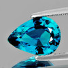 9x6 mm {1.70 cts} Pear AAA Fire Intense AAA Blue Zircon Natural {Flawless-VVS1}