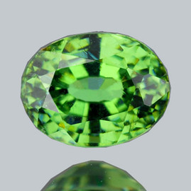 0.64 cts Oval 6x4.5 mm AAA Fire Premium Green Demantoid Natural (Flawless-VVS1)--AAA Grade