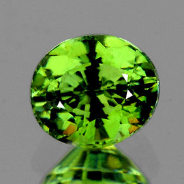0.82 cts Oval 6x5 mm AAA Fire Premium Green Demantoid Natural (Flawless-VVS1)--AAA Grade