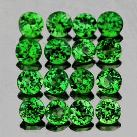 1.30 mm 80 pcs Round Diamond Cut AAA Chrome Green Tsavorite Garnet Natural {Flawless-VVS}