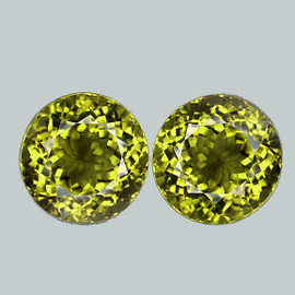 4.50 mm 2 pcs Round AAA Fire Intense AAA Canary Yellow Mali Garnet Natural {VVS}