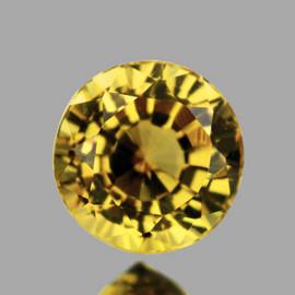 6.50 mm {1.07 cts} Round Natural Golden Yellow Mali Garnet {Flawless-VVS1}