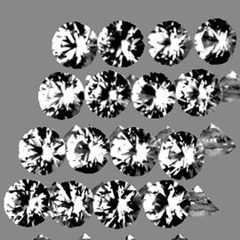 2.30 mm 16 pcs Round Brilliant Cut White Sapphire Natural {Flawless-VVS1}
