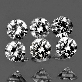 1.40 mm 6 pc Round Diamond Cut Color F-G White Diamond Natural {Slightly Inclusion}