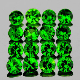 1.50 mm 60 pcs Round AAA Chrome Green Diopside Natural {Flawless-VVS1}