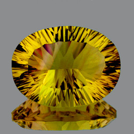 30x23 mm Oval {58.80 cts} ConCave Cut Best AAA Canary Yellow Fluorite Natural {Flawless-VVS1}