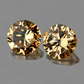 1.80 mm 2 pcs Round Diamond Cut AAA Vivid Golden Champagne Diamond Natural {VVS CLARITY} AAA Grade
