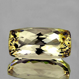 21x10 mm Rectangle {16.24 cts} Brilliant AAA Luster Champagne Yellow Kunzite Natural {Flawless-VVS1}