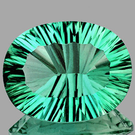 26x20 mm Oval {41.38 cts} ConCave Cut Best AAA Paraiba Green Blue Fluorite Natural {Flawless-VVS1}