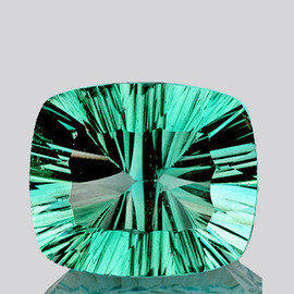 20x17 mm Rectangle {27.73 cts} ConCave Cut Best AAA Paraiba Green Blue Fluorite Natural {Flawless-VVS1}