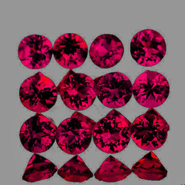 2.80 mm 12 pcs Round Machine Cut AAA Red Spinel Mogok Natural {Flawless-VVS1}