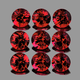 3.00 mm 9 pcs Round Dark Red Spinel Mogok Natural {Flawless-VVS1}