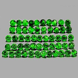 1.00 mm 100 pcs Round AAA Chrome Green Diopside Natural {Flawless-VVS1}