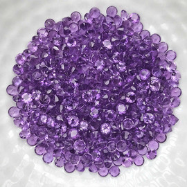 0.70-1.00 mm 100 pcs Round Brilliant Machine Cut AAA Pink Purple Amethyst Natural {Flawless-VVS1}