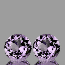 14.00 mm 2 pcs Round Natural AAA Pink Amethyst {Rose De France)  {Flawless-VVS1}