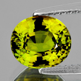 8x7mm Oval {1.58 cts} Best AAA Canary Yellow Tourmaline Mozambique Natural {Flawless-VVS1}