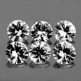 1.40 mm 6 pcs Round Color D-F White Diamond Natural {VVS-VS}--AAA Grade