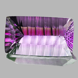 24x14 mm {25.80 cts} Rectangle ConCave Cut Violet Fluorite Natural {Flawless-VVS1}