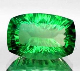 24x16 mm {32.44 cts} Rectangle ConCave Cut AAA Emerald Green Fluorite Natural {Flawless-VVS1}