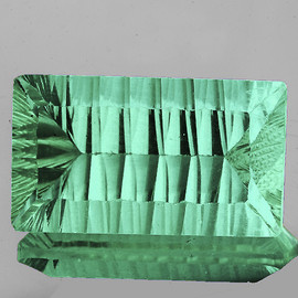 25x15 mm {38.56 cts} Rectangle ConCave Cut Paraiba Green Fluorite Natural {Flawless-VVS1}