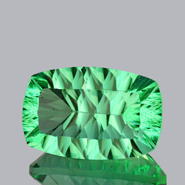 30x19 mm {53.62 cts} Rectangle ConCave Cut Paraiba Green Fluorite Natural {Flawless-VVS1}