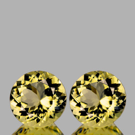 12.00 mm 2 pcs Round AAA Fire Golden Yellow Citrine Natural {Flawless-VVS1}