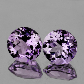 10.00 mm 2 pcs Round Natural AAA Lilac Pink Amethyst {Rose De France)  {Flawless-VVS1}