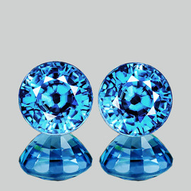 6.00 mm 2 pcs Round Best AAA Fire AAA Seafoam Blue Zircon Natural{Flawless-VVS1}--AAA Grade