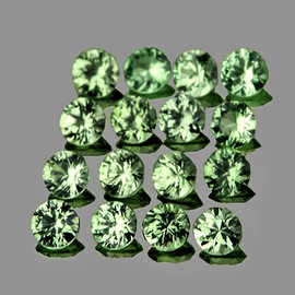 2.20 mm 16 pcs Round Extreme Brilliancy Green Sapphire Natural {Flawless-VVS1}