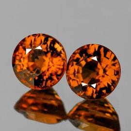 4.50 mm 2 pcs Round Best AAA Fire Intense AAA Orange Tourmaline Mozambique Natural {Flawless-VVS1} --AAA Grade