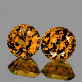 4.80 mm 2pcs Round Best AAA Fire AAA Golden Yellow Tourmaline Mozambique Natural {Flawless-VVS1} --AAA Grade