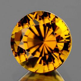 6.50 mm Round  {1.25 cts} Intense AAA Golden Yellow Tourmaline Mozambique Natural {Flawless-VVS1}