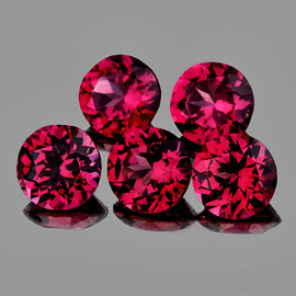 3.30 mm 5 pcs Round Best AAA Fire Red Spinel Mogok Natural {Flawless-VVS1}