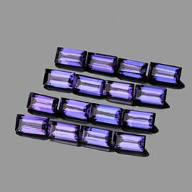 4x2 mm 20 pcs Baguette Bluish Violet Iolite Natural {Flawless-VVS1}
