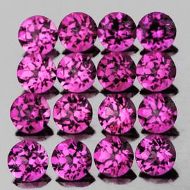 1.25 mm 100 pcs Round Brilliant Machine Cut Natural Purple Pink Rhodolite Garnet {Flawless-VVS}