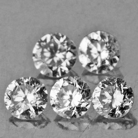 1.70 mm 5 pcs Round Diamond Cut Color F-G White Diamond Natural {Slightly Inclusion}