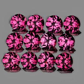 3.50 mm 12 pcs Round Best AAA Fire AAA Raspberry Pink Rhodolite Garnet Natural (Umbalite){Flawless-VVS1}