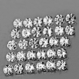 1.50 mm 50 pcs Round Machine Cut AAA Diamond White Zircon Natural {Flawless-VVS1}