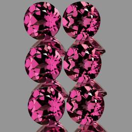 4.30 mm 6 pcs Round AAA Fire AAA Raspberry Pink Rhodolite Garnet Natural (Umbalite){Flawless-VVS1)