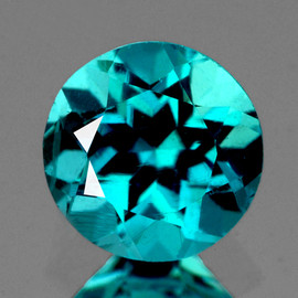 7.50 mm Round { 1.51 cts} AAA Fire Intense Paraiba Green Blue Apatite (Flawless-VVS1)--AAA Grade