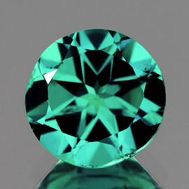 7.50 mm Round { 1.43 cts} AAA Fire Intense Paraiba Blue Green Apatite (Flawless-VVS1)--AAA Grade