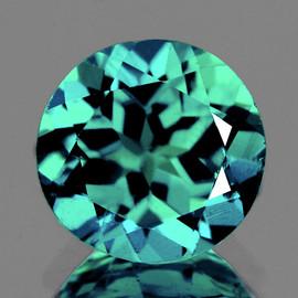 7.80 mm Round { 1.64 cts} AAA Fire Paraiba Green Blue Apatite (Flawless-VVS)--AAA Grade